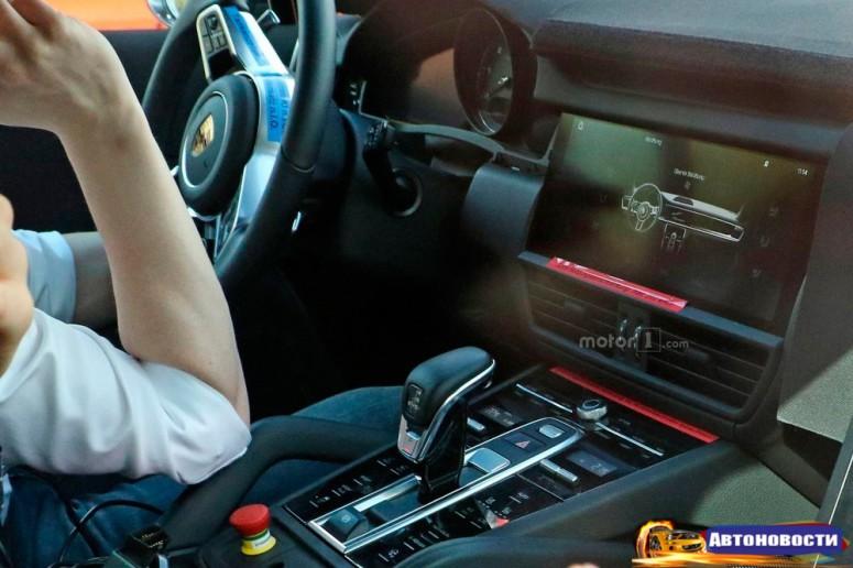 У «Кайенна» полностью изменится дизайн центральной консоли и тоннеля - «Porsche»