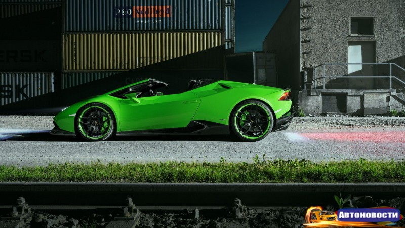 Зеленый как Халк: Novitec построил 860-сильный Lamborghini Huracan - «Lamborghini»