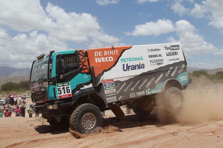 Дакар-2016: команда De Rooy выиграла ралли на обычных грузовых шинах - «Автоновости»