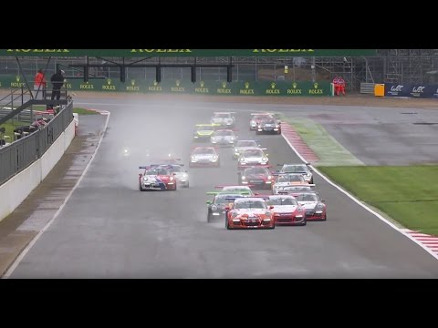Porsche Carrera Cup GB 2016: Silverstone Rounds 3 & 4 Highlights  - «видео»