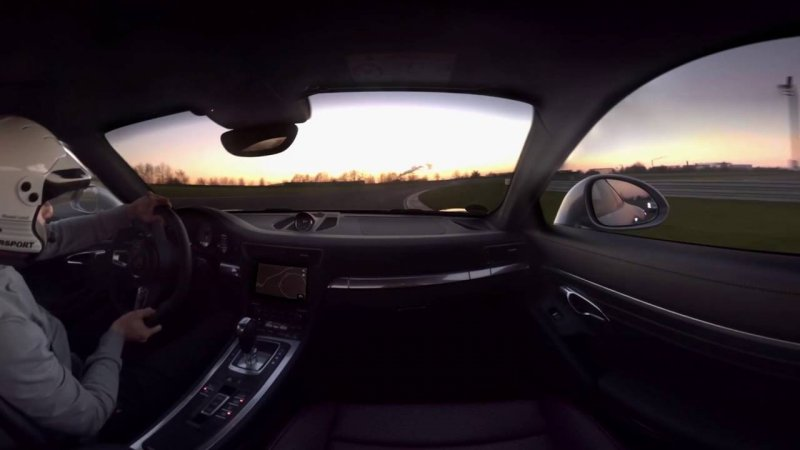 360° Experience - Behind the wheel of the new 911 Carrera S at Porsche Leipzig  - «видео»