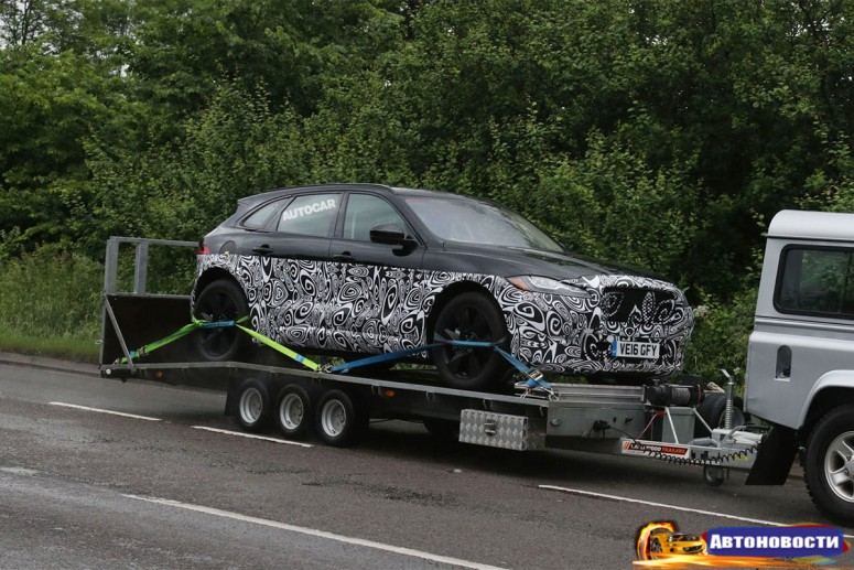 Jaguar вывел на тесты гибридный кросс J-Pace - «Jaguar»
