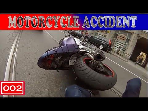Motorcycle Accident (Compilation -002-)  - «происшествия видео»