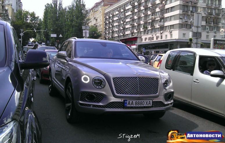 По Киеву уже ездит первый внедорожник Bentley: фото - «Bentley»