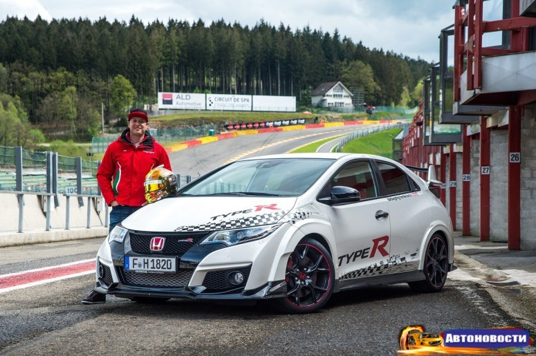 Японский хот-хэтч Honda Civic Type R стал рекордсменом на 5 автодромах - «Honda»