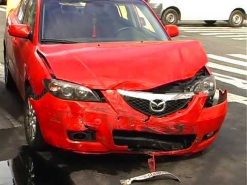 ДТП на перекрестке - не разминулись Mazda и Fiat  - «происшествия видео»
