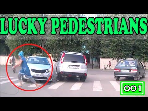 Lucky Pedestrians (Compilation -001-)  - «происшествия видео»