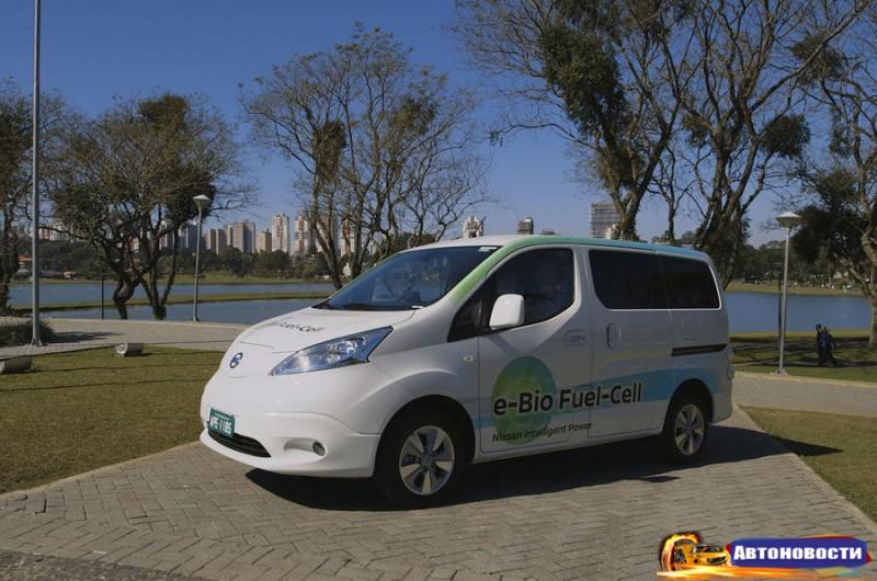 Nissan испытывает прототип, в котором биоэтанол превращается в электричество - «Nissan»