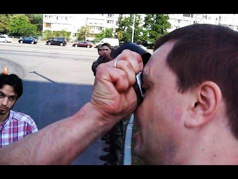 Патрульная полиция жестко шмонает киевлян  - «происшествия видео»