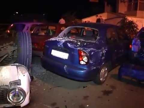 Пьяное ДТП. «Жигули» протаранили 3 автомобиля  - «происшествия видео»