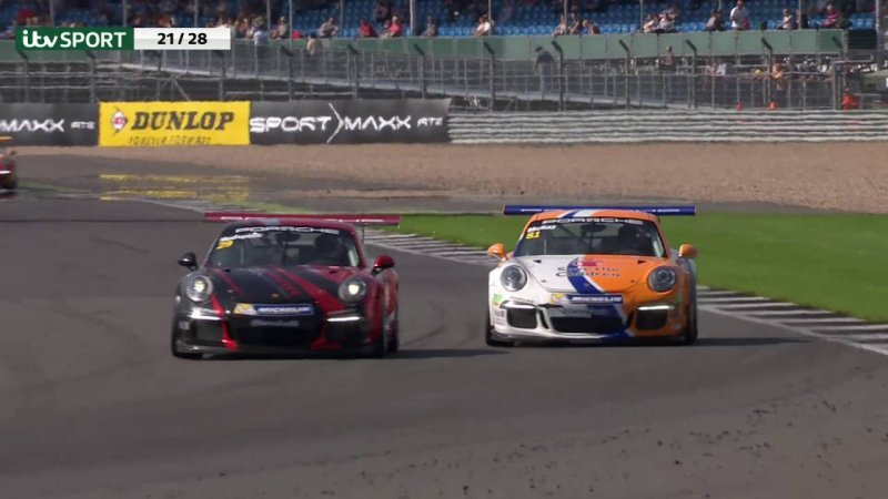 Highlights from Porsche Carrera Cup GB at Silverstone  - «видео»
