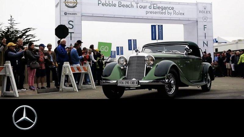 Pebble Beach Concours d'Elegance: 2016 Monterey Car Week – Mercedes-Benz Original  - «видео»