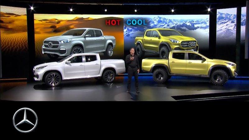 Reveal of the Mercedes-Benz Concept X-CLASS – Mercedes-Benz Original  - «видео»