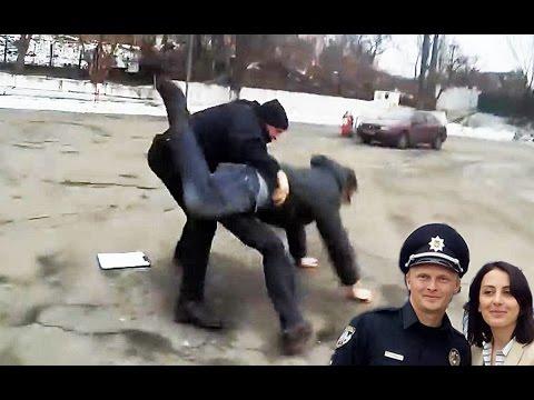 Полицейская тварь жестоко избила водителя  - «происшествия видео»