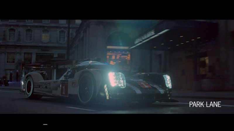 Behind the scenes with the 919 Hybrid & Panamera 4 E-Hybrid in London  - «видео»