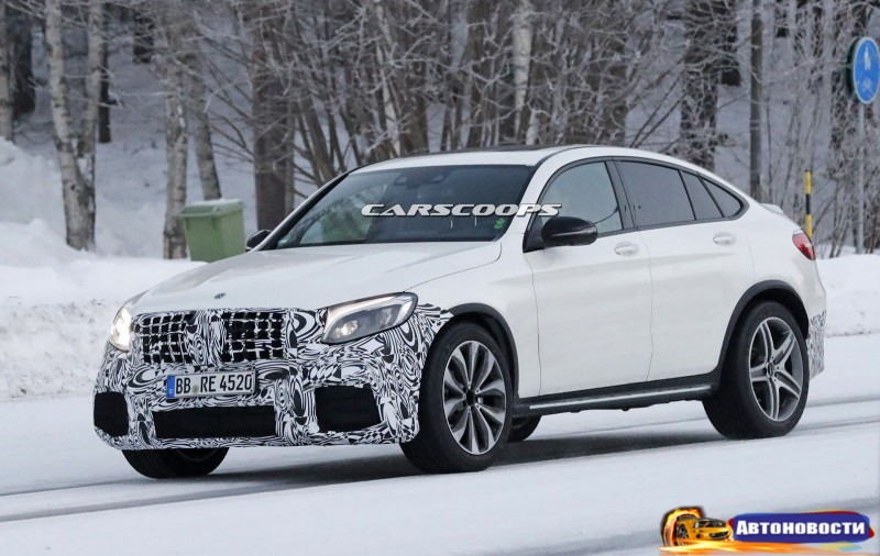 «Заряженный» Mercedes-AMG GLC 63 Coupe замечен в Швеции (фото) - «Mercedes-Benz»